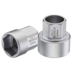 """Gedore 1/2"""" External Hex Drive Hollow 19 SK Sockets Metric Short Pattern"""