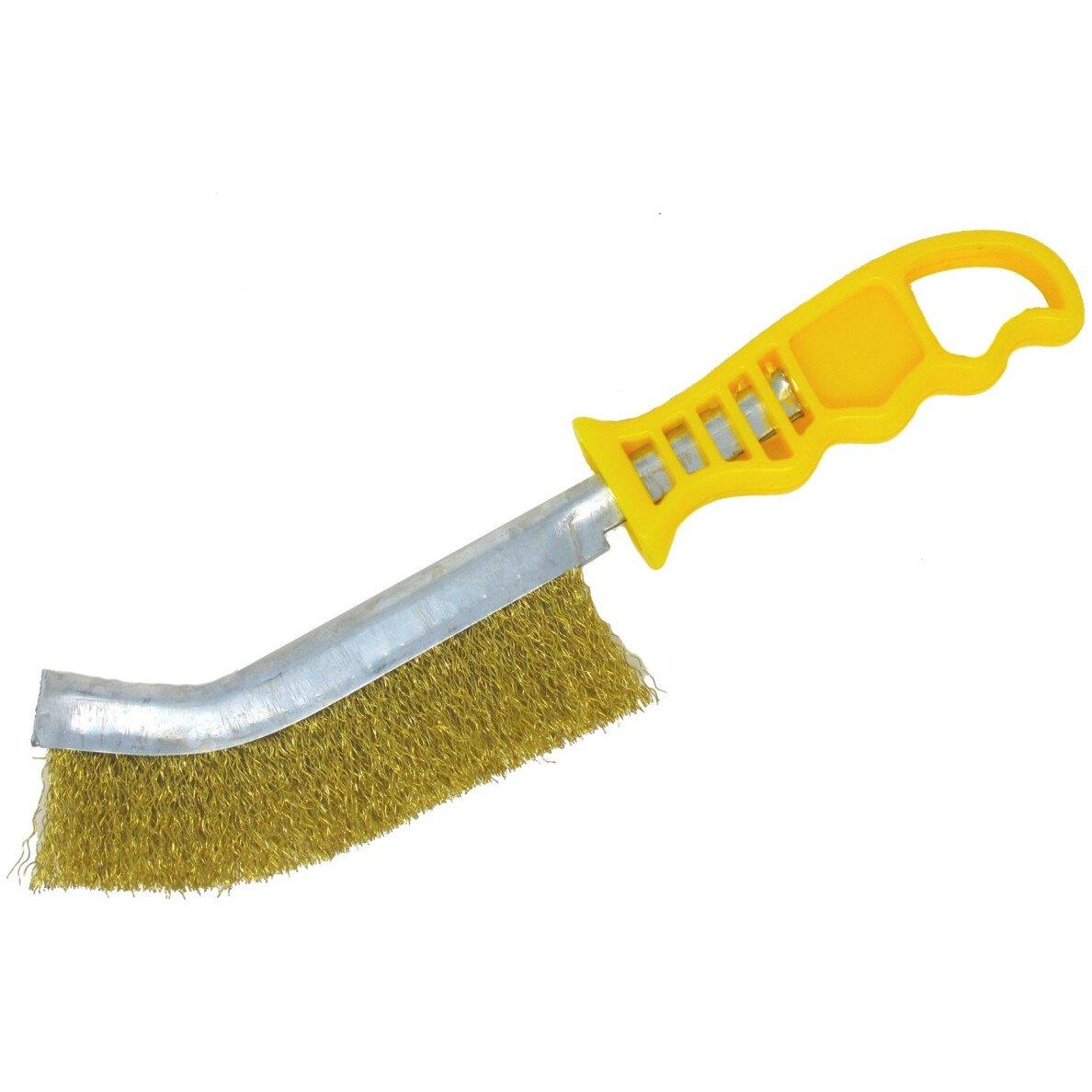 Osborn 0008462591 Wire Brush (Brass) Yellow Handled
