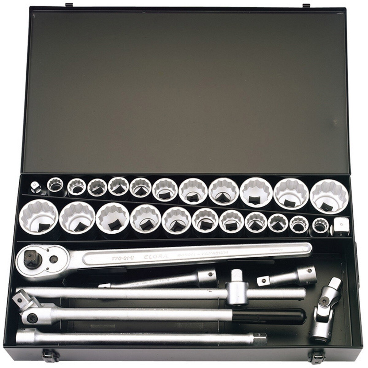 """Elora 770-S22 MAU 31 Piece 3/4"""" Square Drive Metric And Imperial Socket Set 00335"""