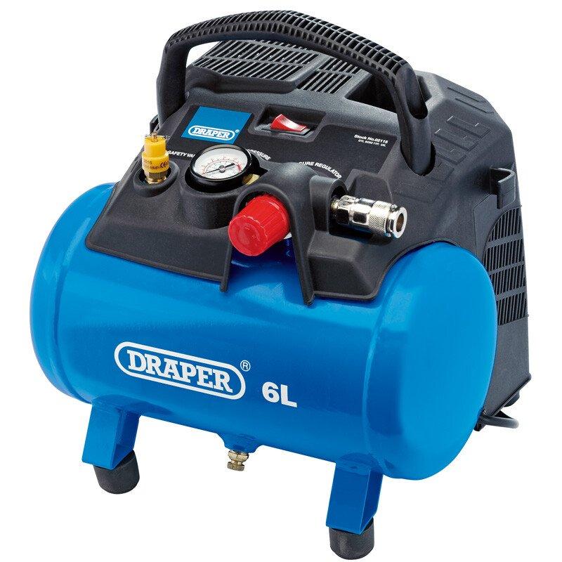 Oil Free Air Compressor >> Draper 02115 Da6 180 6 L Oil Free Air Compressor 1 2k W