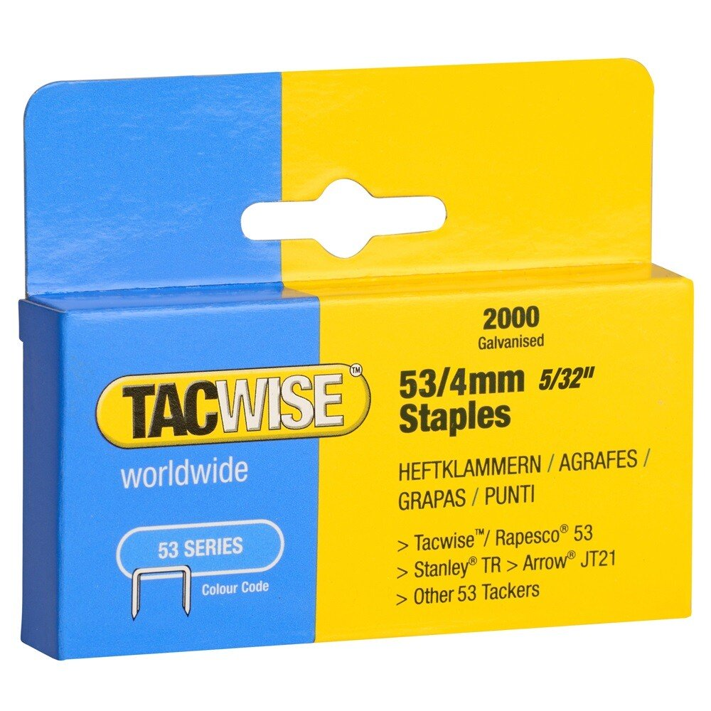 Tacwise 0333 53/4mm Heavy Duty Staples Galvanised (Box of 2000)