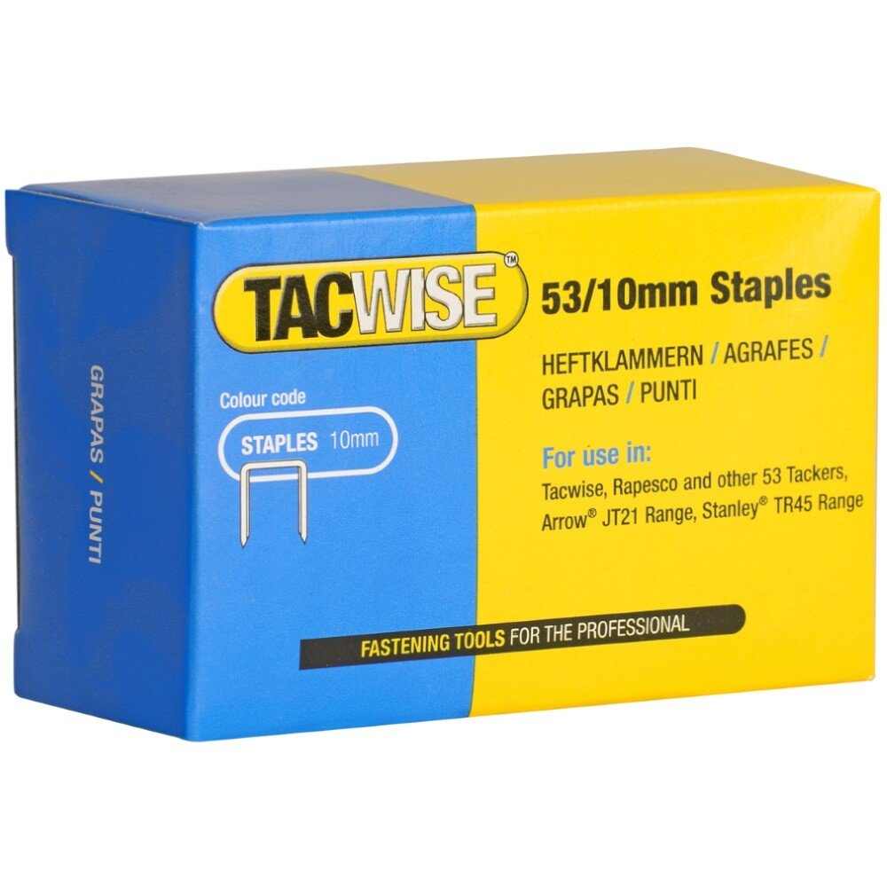Tacwise 0431 53/10mm Staples (Pack of 5000)