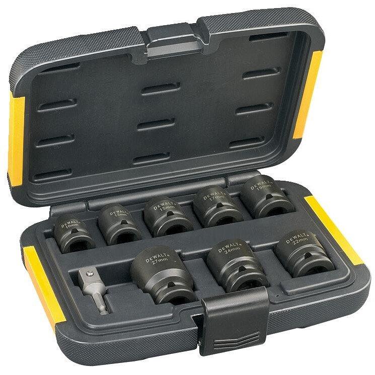 "DeWalt DT7507-QZ Set of 1/2""Drive Impact Sockets  9 Piece"