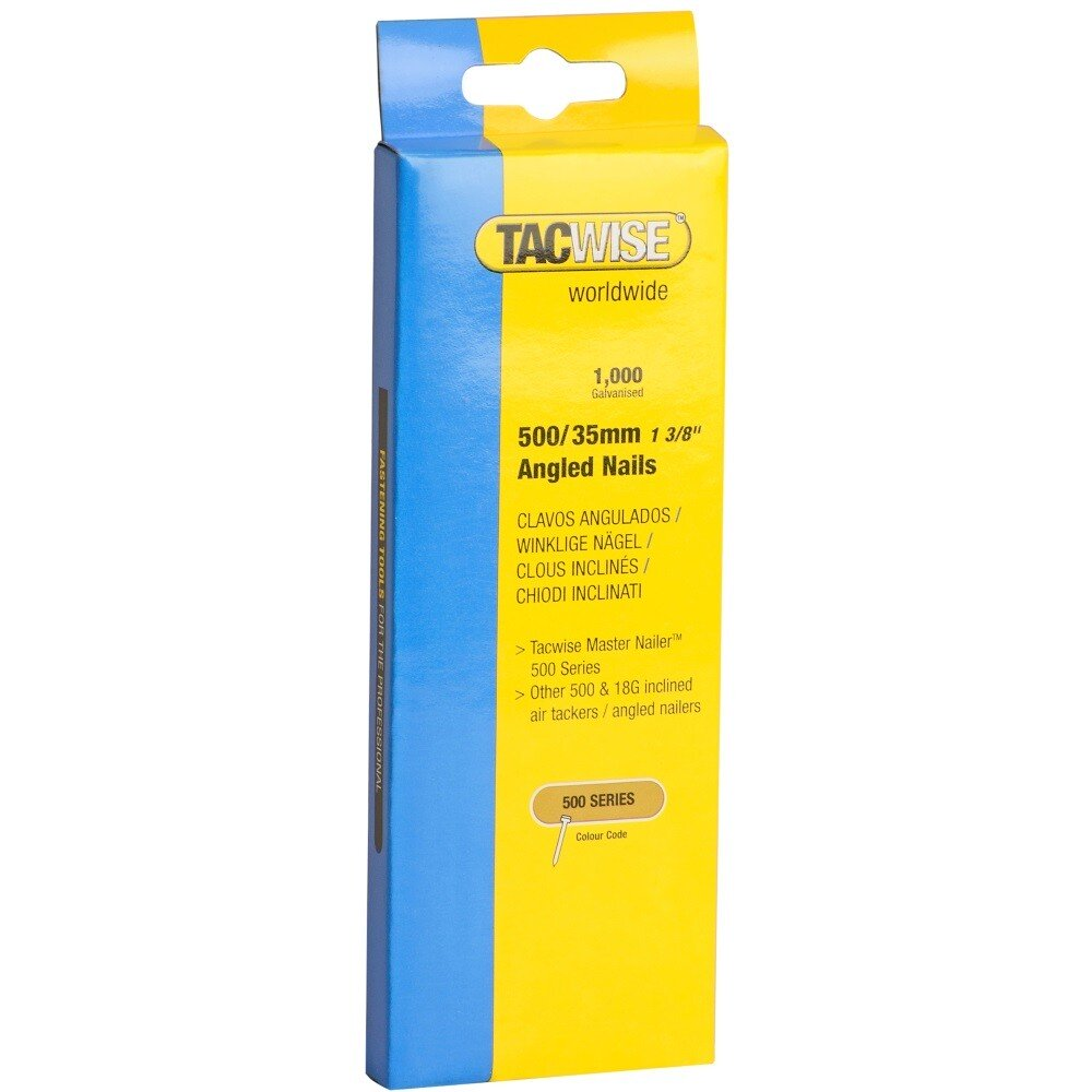 Tacwise 0482 500/35mm 18G Angled Nails Galvanised (Box of 1000)