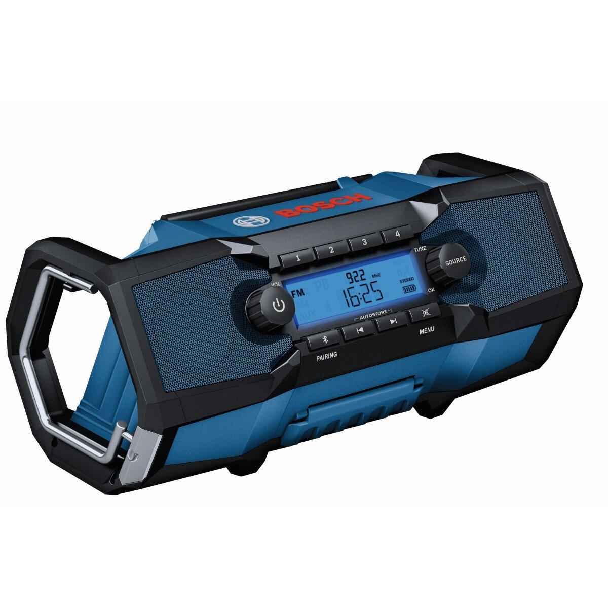 Bosch GBP 18 V-2 C 18v Body Only / 230v Jobsite Bluetooth Radio Connection Ready in Carton