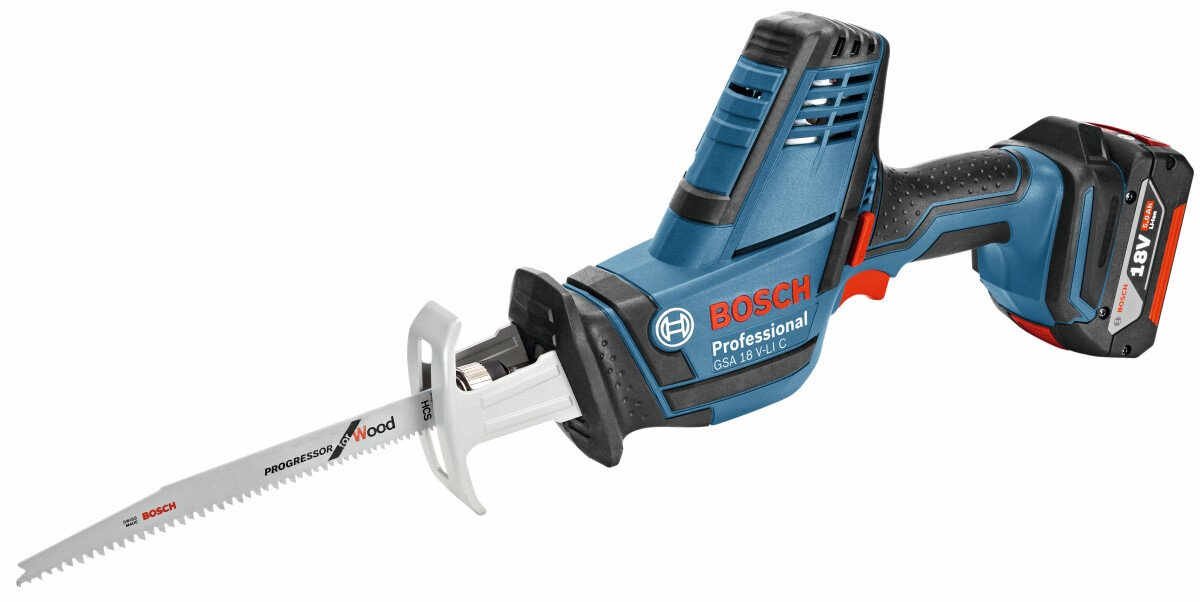 Bosch GSA 18 V-LICN Body Only 18V Professional Compact Reciprocating Saw In L-Boxx