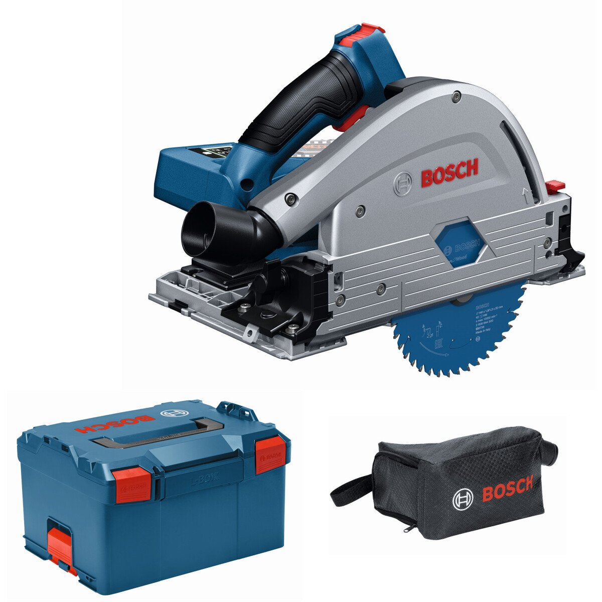 Bosch GKT 18V-52 GCNCG 18v Body Only BITURBO BRUSHLESS Guide Rail Compatible Plunge Saw Connected in L-Boxx