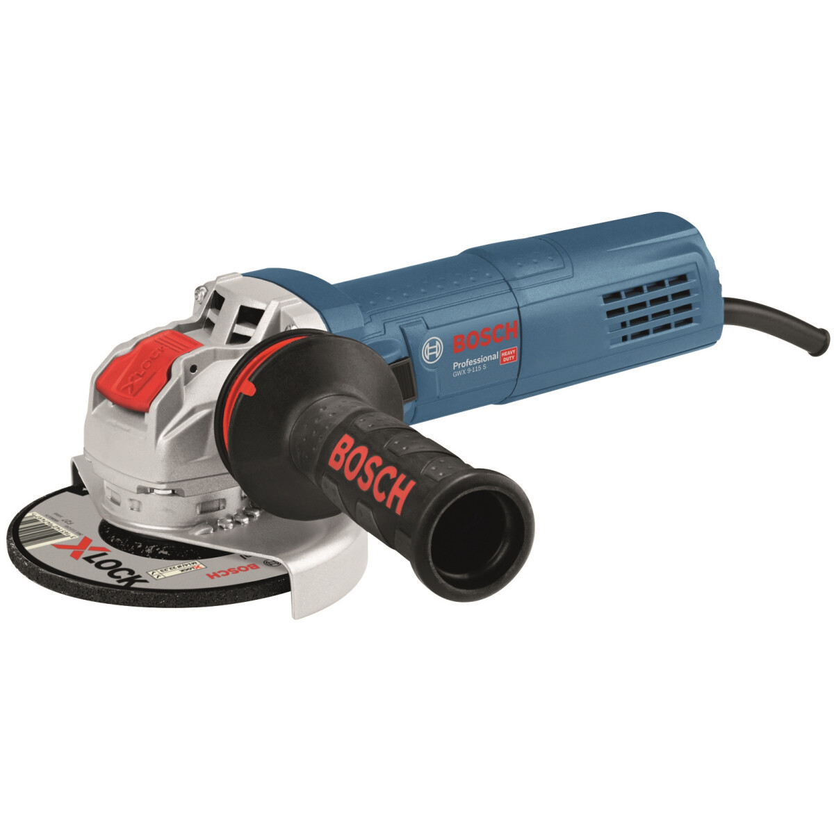 """Bosch GWX 9-115 S 4.1/2"""" 900W (115mm) X-Angle Grinder with Anti-Vibration Handle in Carton"""
