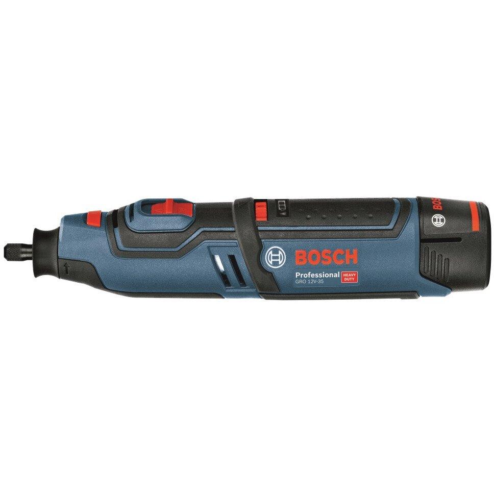 Bosch GRO128V-35 12v Cordless Cordless Rotary Tool (2 x 2.0Ah, L-BOXX)