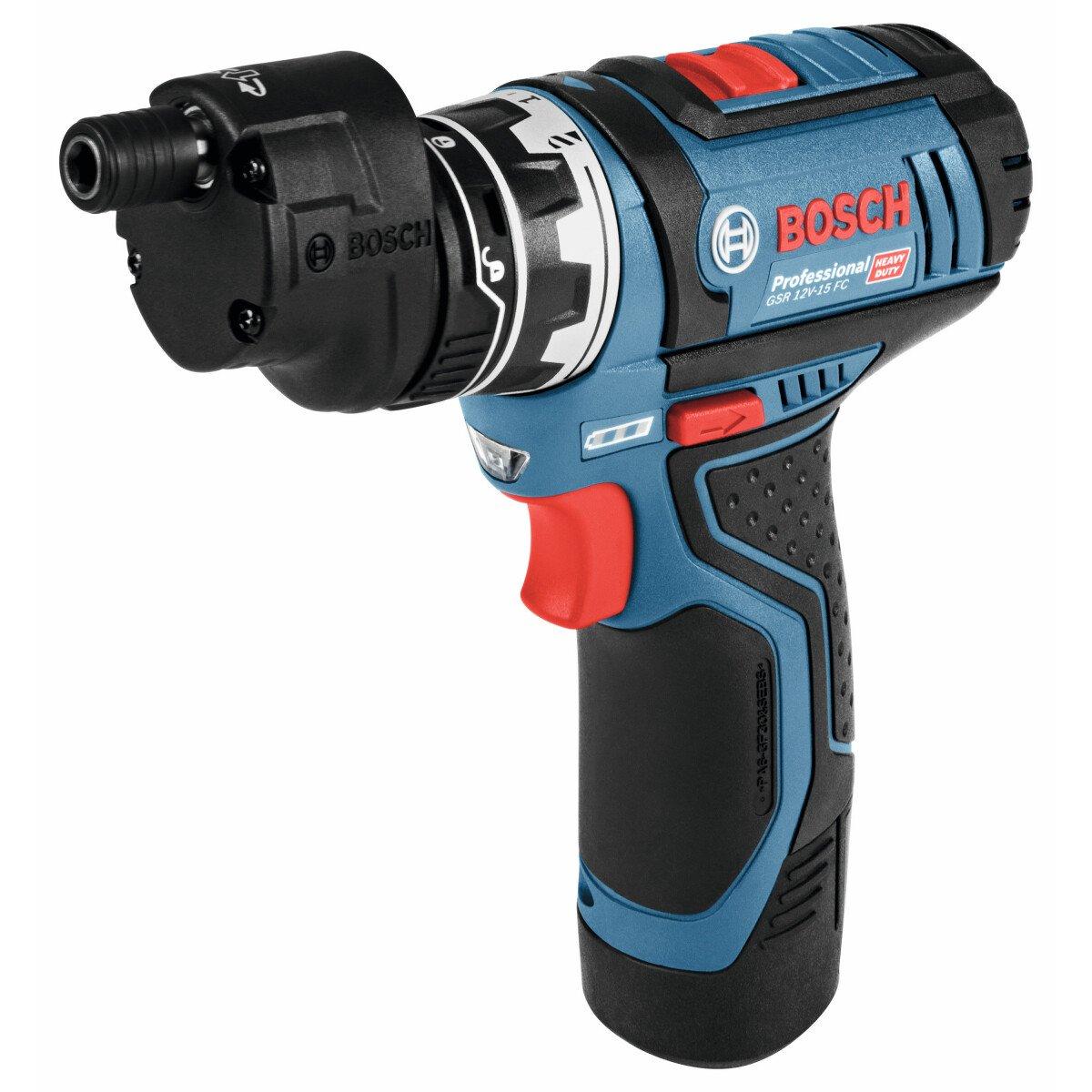 Bosch GSR12V-15FC 12v/10.8v Cordless Drill Driver  (2 x 2.0 Ah, AL 1230 CV, L-BOXX) + GFA Chuck