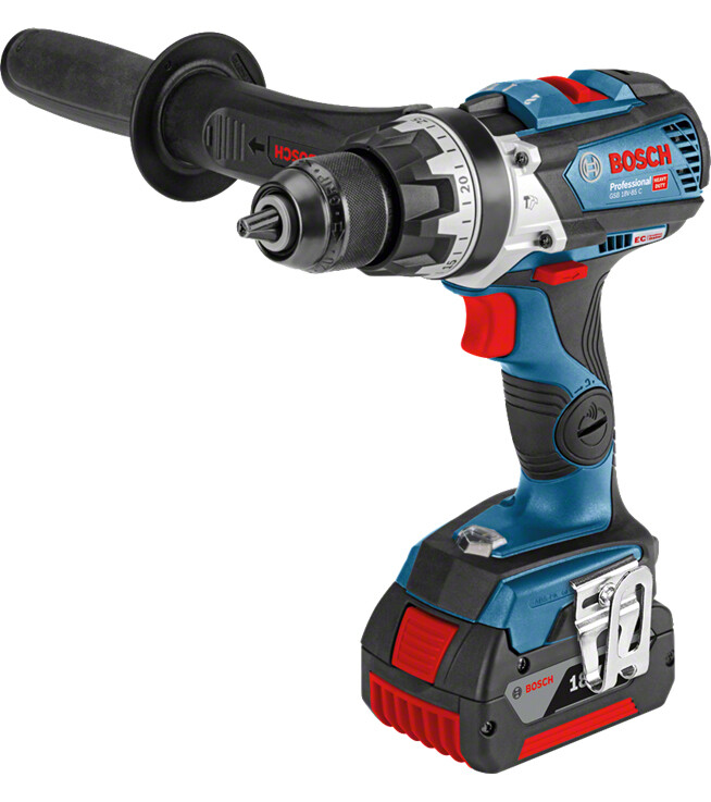 Bosch GSB 18V-85C1 18V Combi Drill with 2x5.0Ah in L-BOXX with GCY 30-4