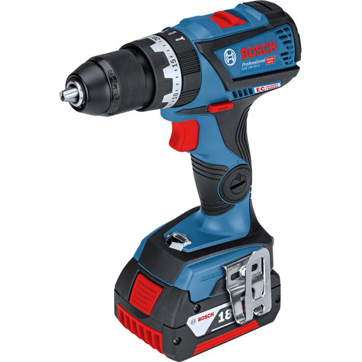 Bosch GSB 18 V-60CN Body Only 18V Brushless Combi Drill Connection Ready - Carton Packed