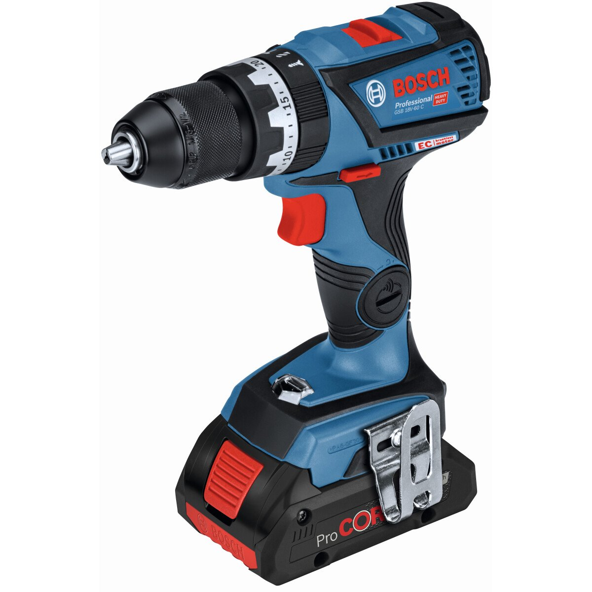 Bosch GSB 18V-60 CPC2 18v BRUSHLESS 2 Speed Mid-range Combi Drill 2 x PROCORE18V 4Ah Connection Ready in L-Boxx