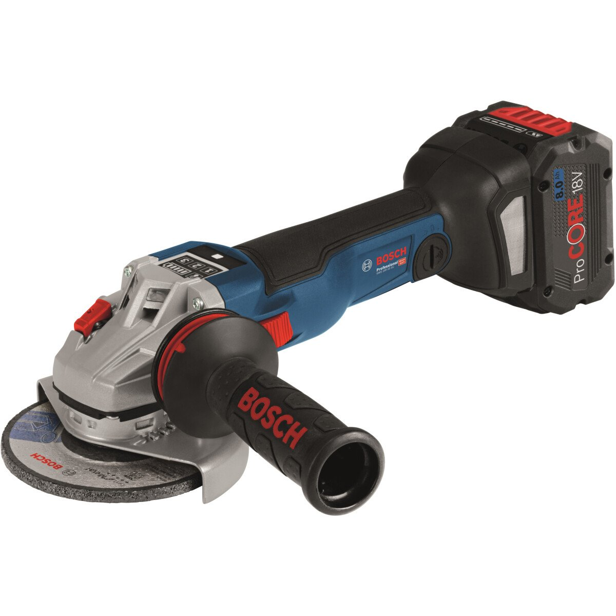 """Bosch GWS 18 V-10 SC 125mm 18V 5""""/125mm Brushless Angle Grinder Connected 1x8.0Ah ProCore,1x6.0Ah in L-Boxx"""