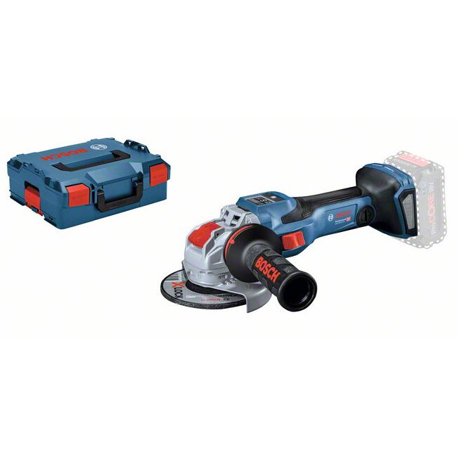 Bosch GWS 18V-15 SC Body Only 18v BiTurbo With X-Lock 125mm Angle Grinder Connection Ready in L-Boxx