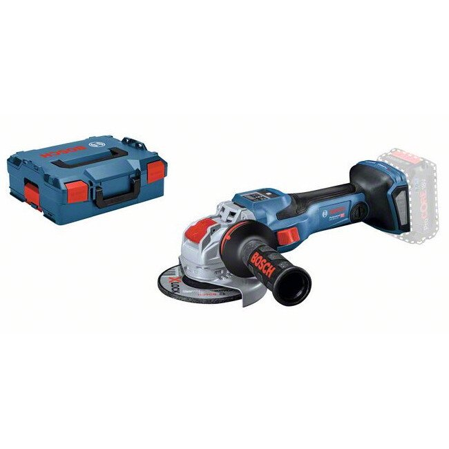 """Bosch GWX 18V-15 SC Body Only 18V 5""""/125mm Brushless BiTurbo With X-Lock Angle Grinder Connection Ready in L-Boxx"""