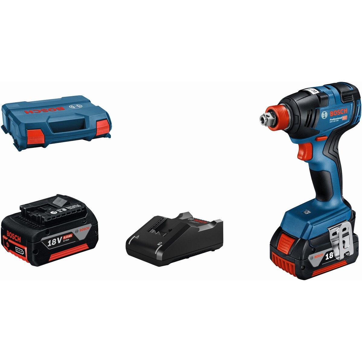 "Bosch GDX18V-200 KIT 18v 1/4"" BRUSHLESS Impact Driver/Wrench (2x5.0Ah) in L Case"