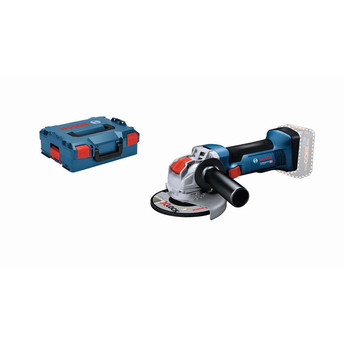 Bosch GWX 18V-8 Body Only 18v X-LOCK 125mm Angle Grinder (Body Only) in L-Boxx