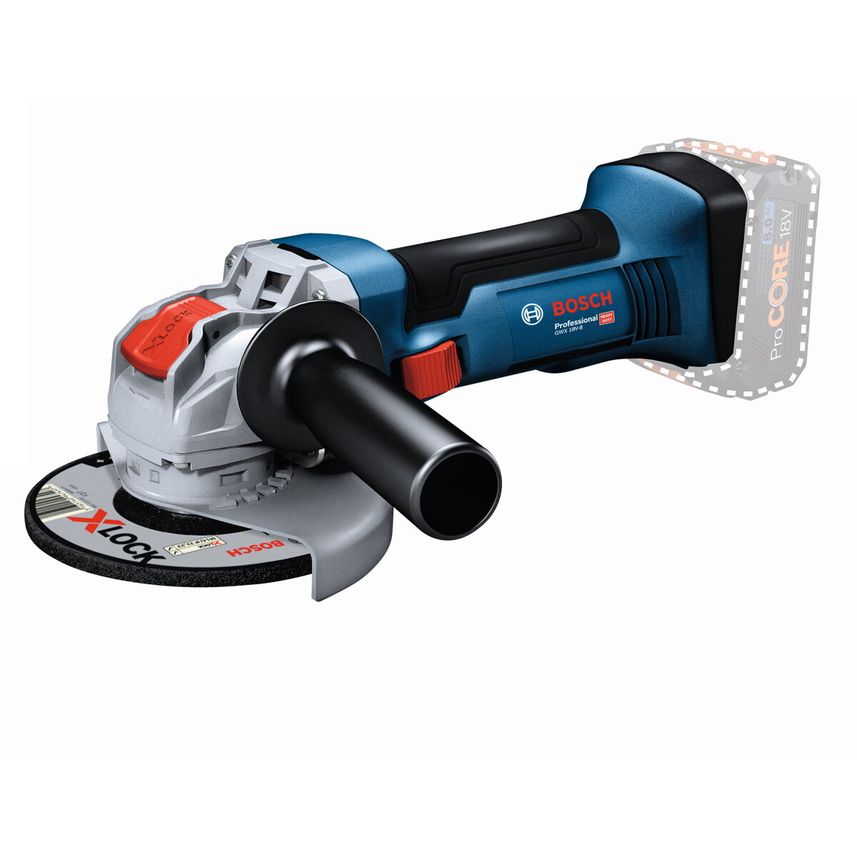 Bosch GWX 18V-8 Body Only 18v X-LOCK 125mm Angle Grinder (Body Only) in Carton