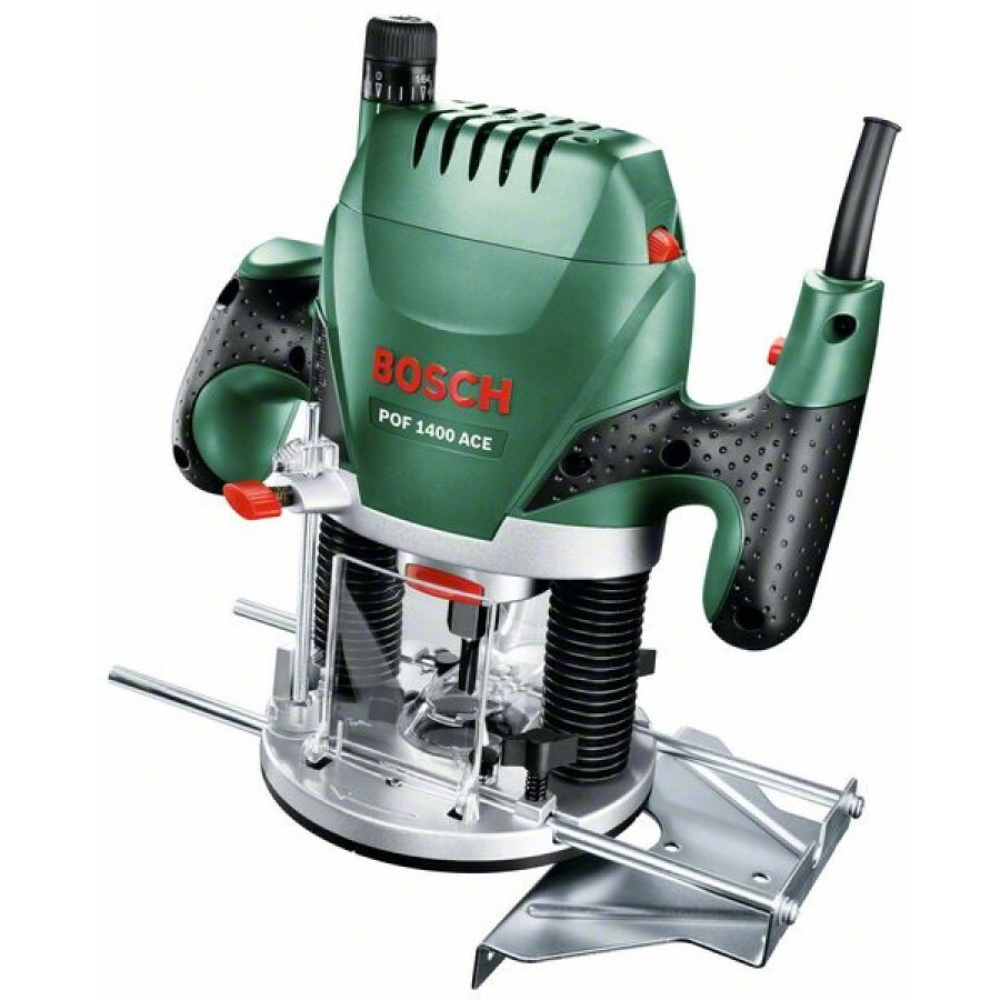 "Bosch POF1400ACE 1/4"" & 8mm Plunge Router 1400w"