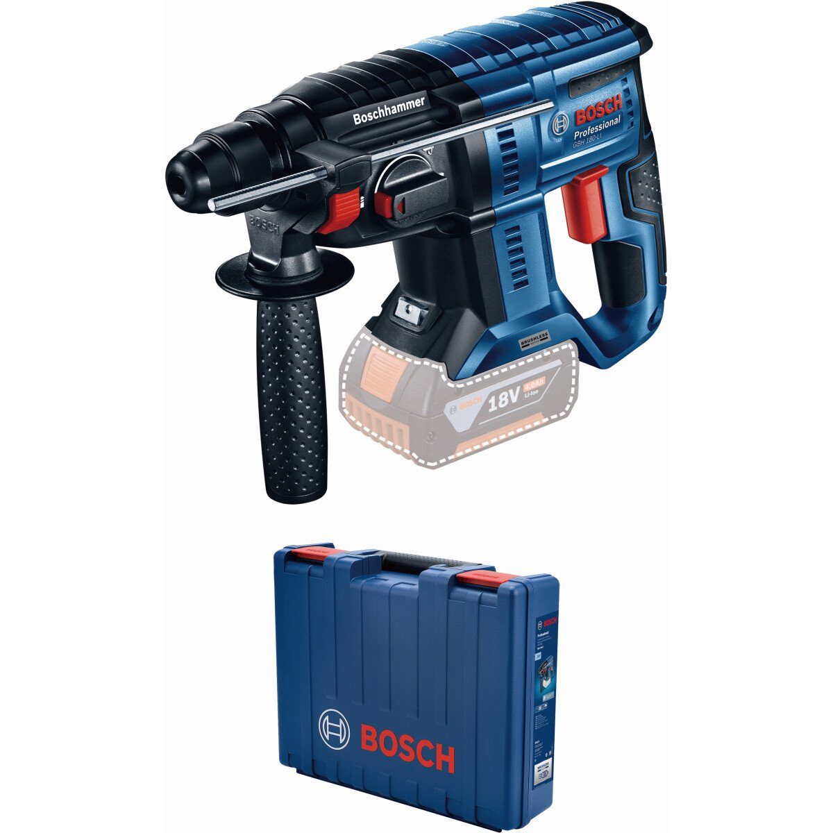 Bosch GBH 18 V-21CG 18v Body Only BRUSHLESS SDS-Plus Hammer in L-Boxx