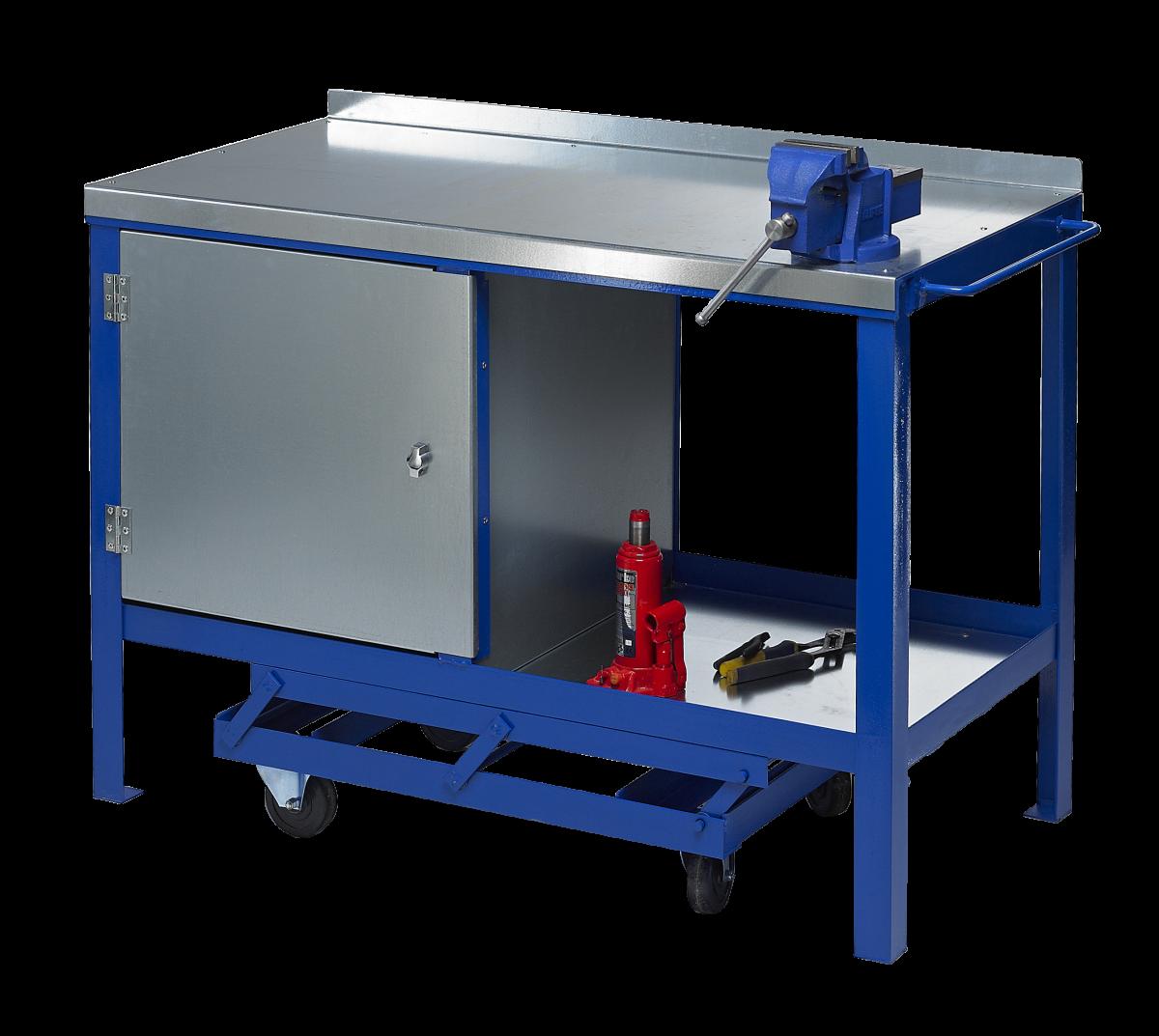 presenteren goedkoop worden nieuwe high J.A.S. Engineering 1560SCP Steel Top Mobile Workbench