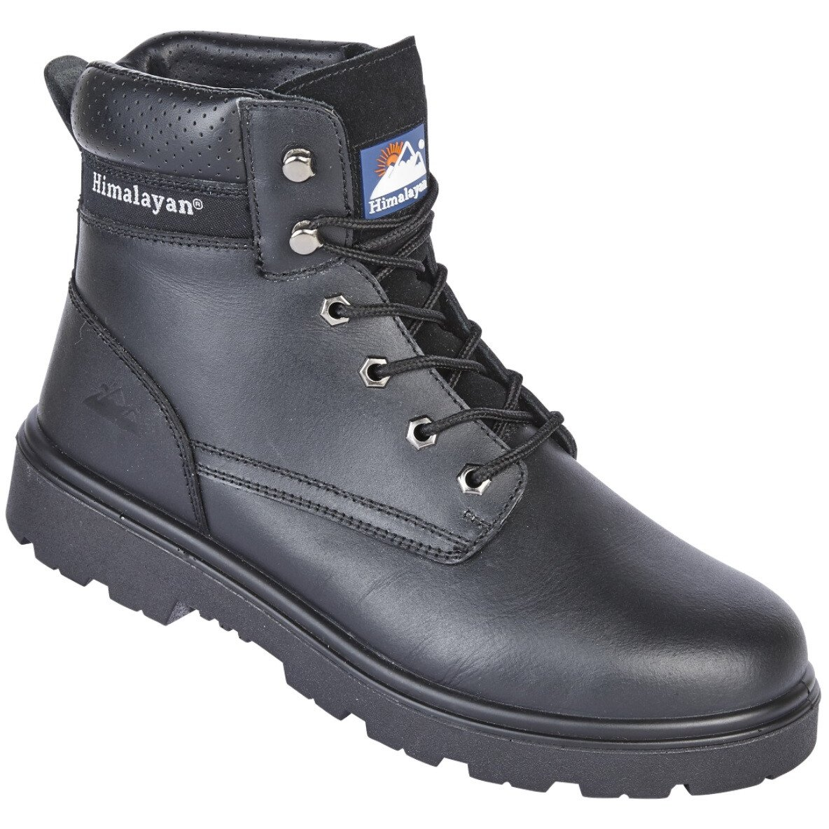 Himalayan 1120 Black Leather Safety Ankle Boot S3 SRC