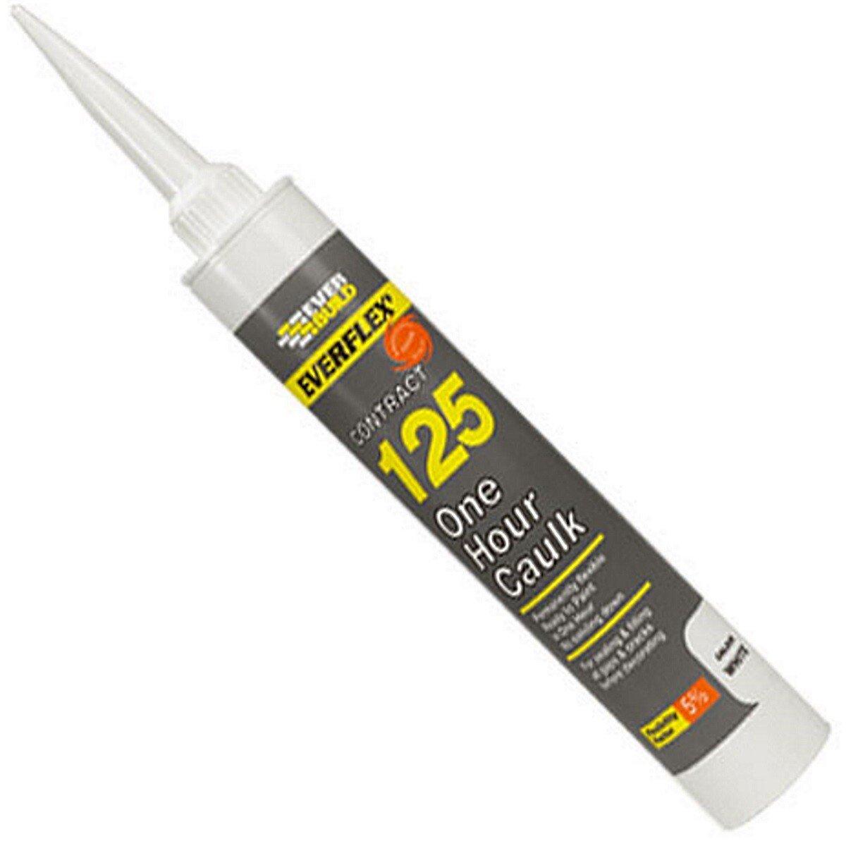 Everbuild 125C3 One Hour Painter's White Caulk 310ml