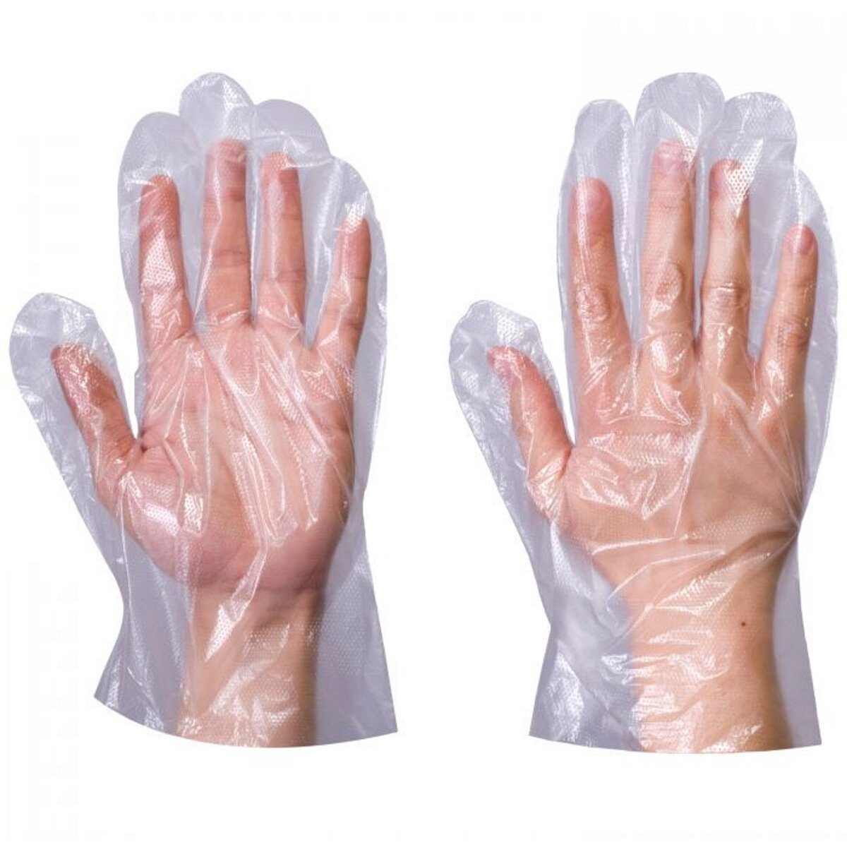 Supertouch 13603 PE Disposable Gloves One Size (Pack of 100) Clear
