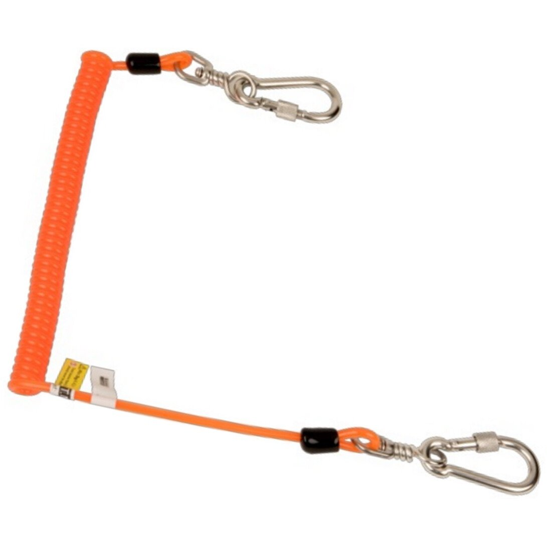 Bahco 439000002 Coiled Lanyard for 2kg with Swivel Carabiners