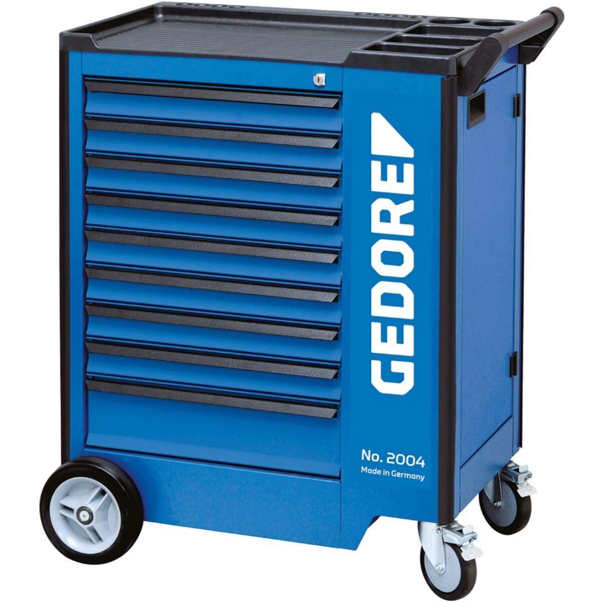 Gedore 1640704 Tool Trolley with 9 Drawers and Storage Compartment 2004 0810