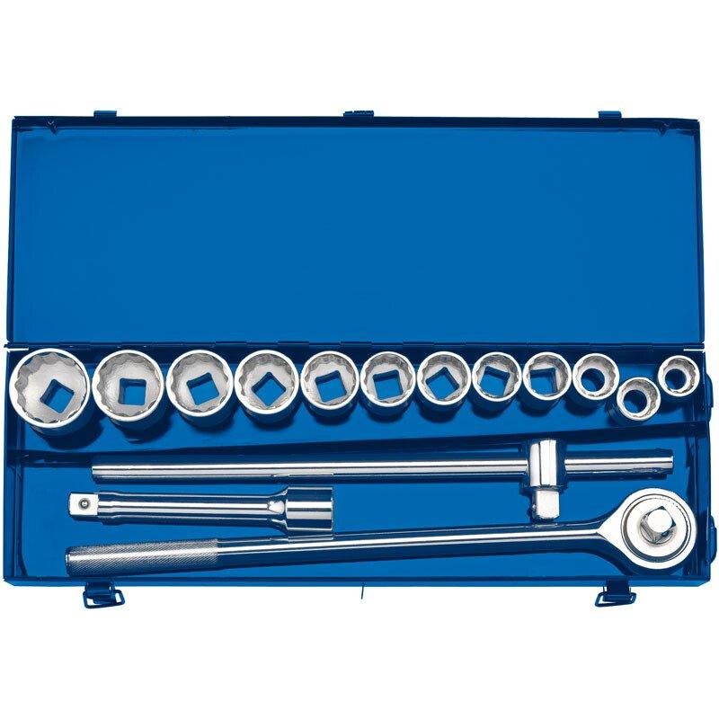 "Draper 16440 TD15M 3/4"" Sq. Dr. Metric Socket Set in Metal Case (15 Piece)"
