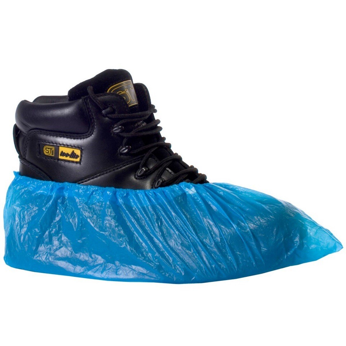 """Supertouch 16610 Blue CPE 16"""" Disposable Overshoe Shoe Covers (Pack of 100)"""