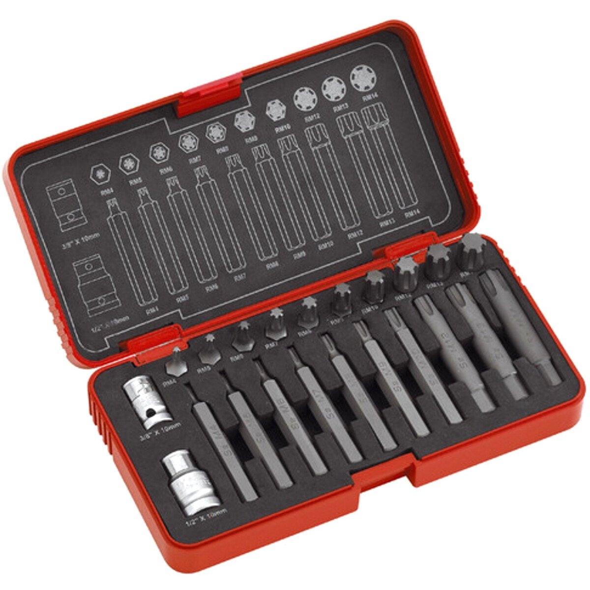 Clarke PRO183 High Torque Ribe Power Bit Set 22 Piece 1700583