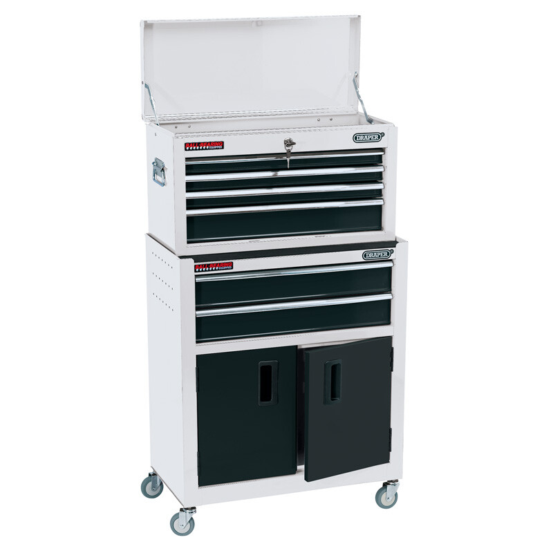 """Draper 19576 RCTC6/W 24"""" Combined Roller Cabinet And Tool Chest (6 Drawer)"""