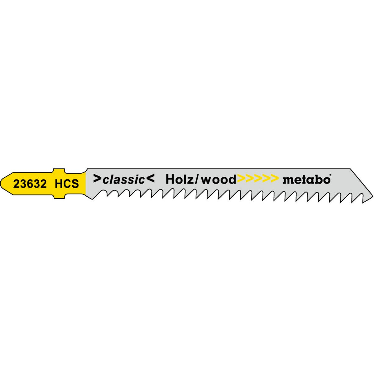 Metabo 623632000 Pack of 5 Jigsaw Blades (Equiv. to Bosch T111C)