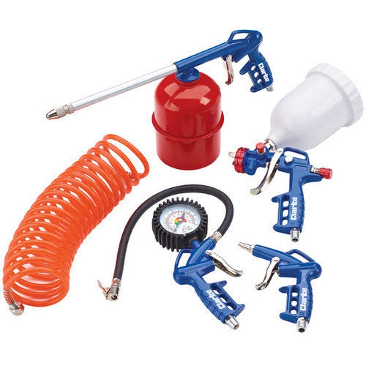 Clarke KIT1100 5 Piece Air Tool Kit with Gravity Fed Spray  3110157