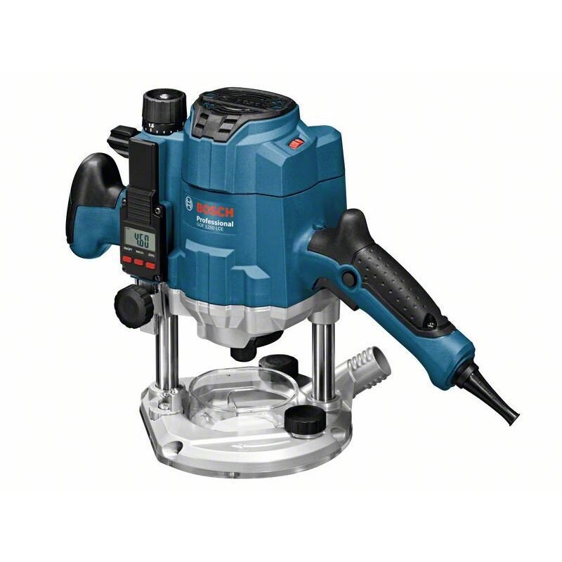 "Bosch GOF1250LCE 1/4"" 6.8mm 1250W Router with Digital Depth Adjustment & LED light in L-BOXX"
