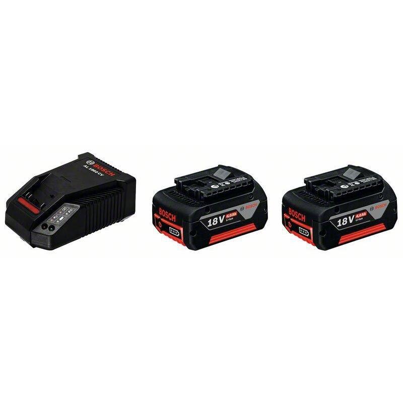 Bosch 1600A002F9 2 x GBA 4.0 Ah Battery 18V + 1 x AL 1860 Charger Starter Set GBA184SET