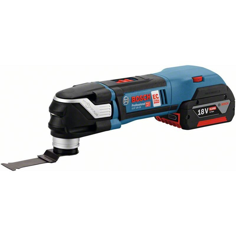 Bosch GOP 18 V-28 N BRUSHLESS 18 V Starlock multi-cutter with 2 x 2.0 Ah batteries and complete with 16 accs in L-BOXX  with Victornox Clasp Knife
