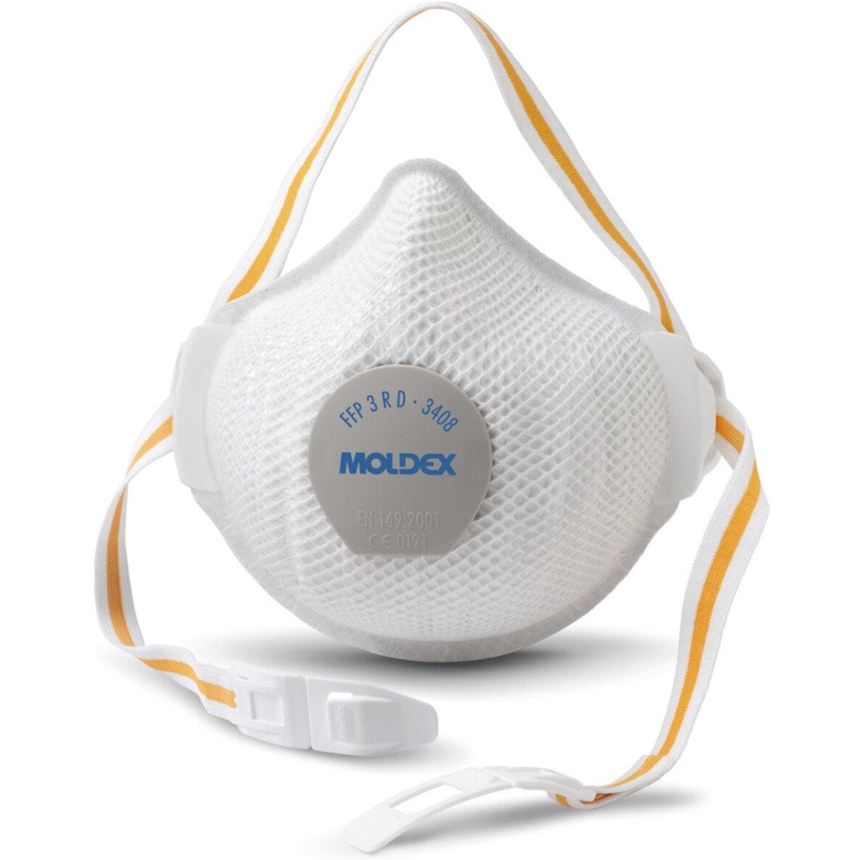 Moldex 340801 Reusable FFP3 R D Pro Valve Air Plus Face Mask (Box of 5)