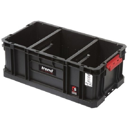 Trend MS/C/200TD Modular Storage Compact Tote 200mm c/w Divider