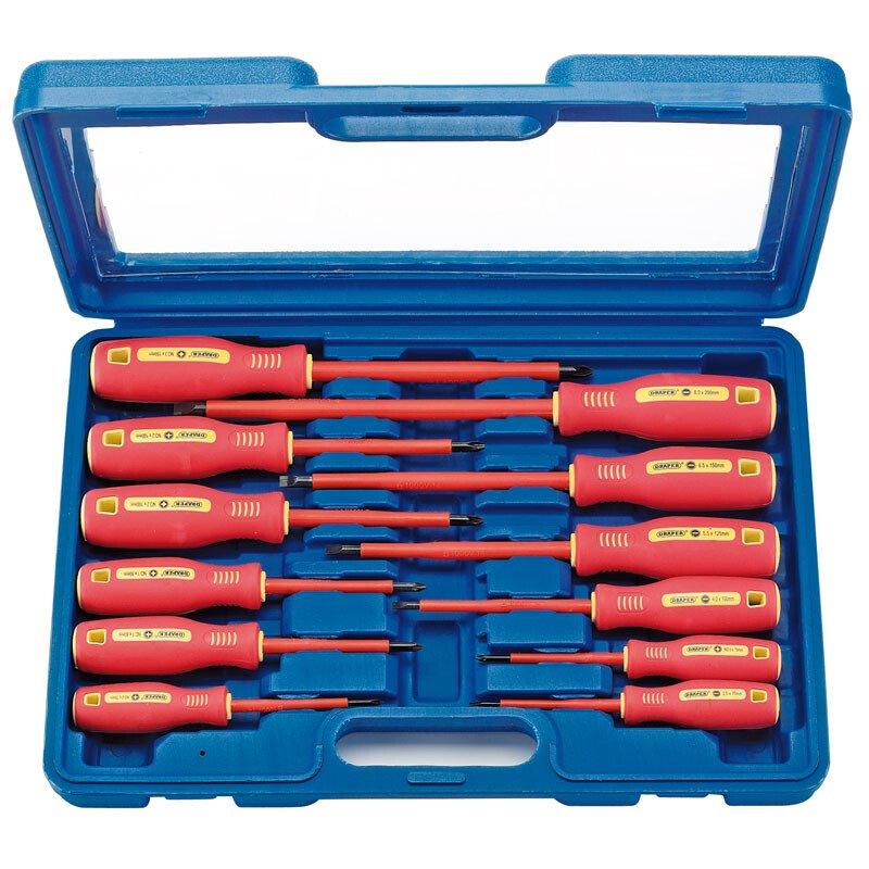 Draper 46541 952/12 12 Piece Fully Insulated Screwdriver Set