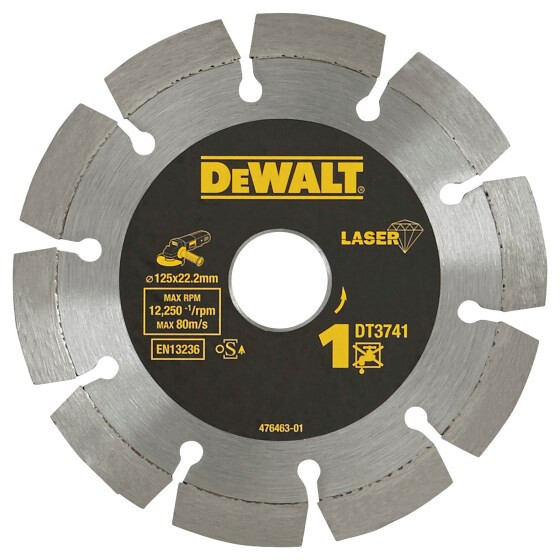 DeWalt DT3741-XJ 125mm Professional Laser Welded Diamond Cutting Disc for Building Materials and Concrete