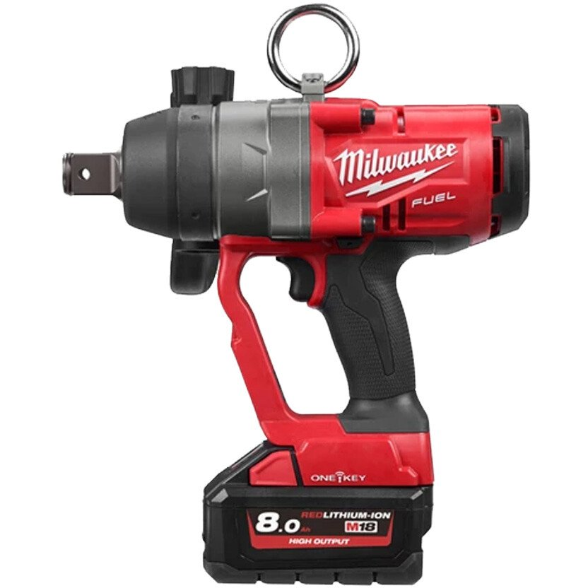 """Milwaukee M18ONEFHIWF1-802X 18v One Key Fuel High Torque Impact Wrench 1"""" SQDR with 2 x 8.0Ah Batteries"""