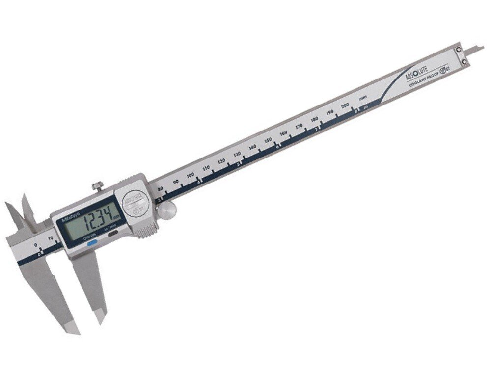 """Mitutoyo 500-753-20 ABSOLUTE Digimatic Coolant Proof Caliper 0-200mm / 0-8"""""""