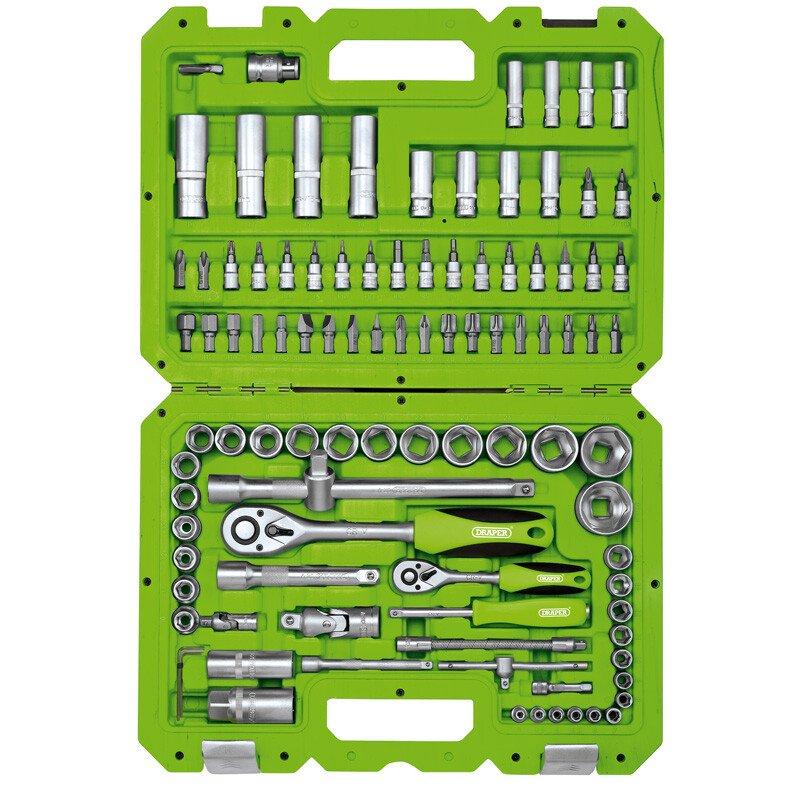 """Draper 55318 TKD100M 1/4"""" and 1/2"""" Drive Metric Tool Kit (100 Piece)"""