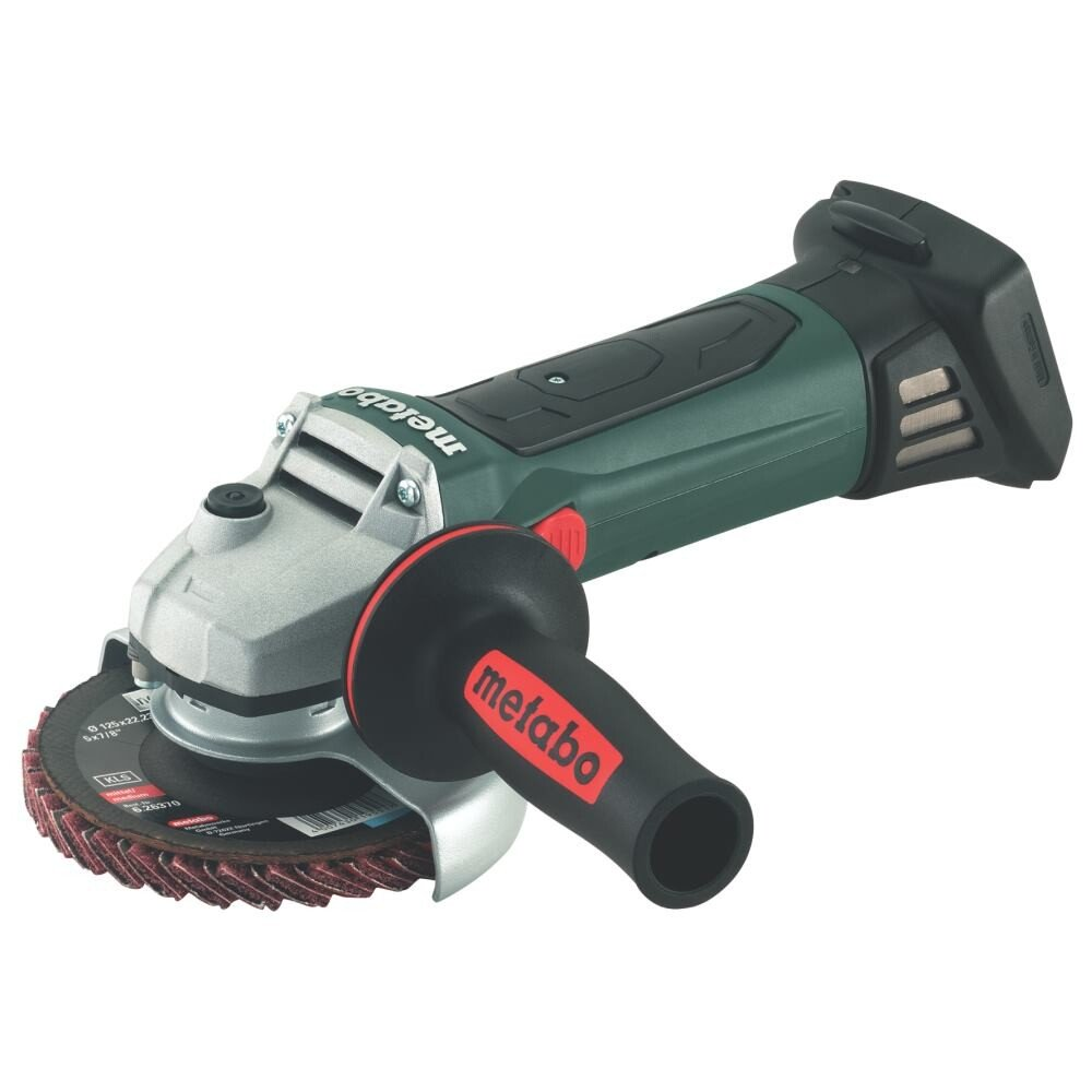 "Metabo W18LTX125 18V 125mm(5"") Angle Grinder (Body Only) with Metaloc Carry Case"