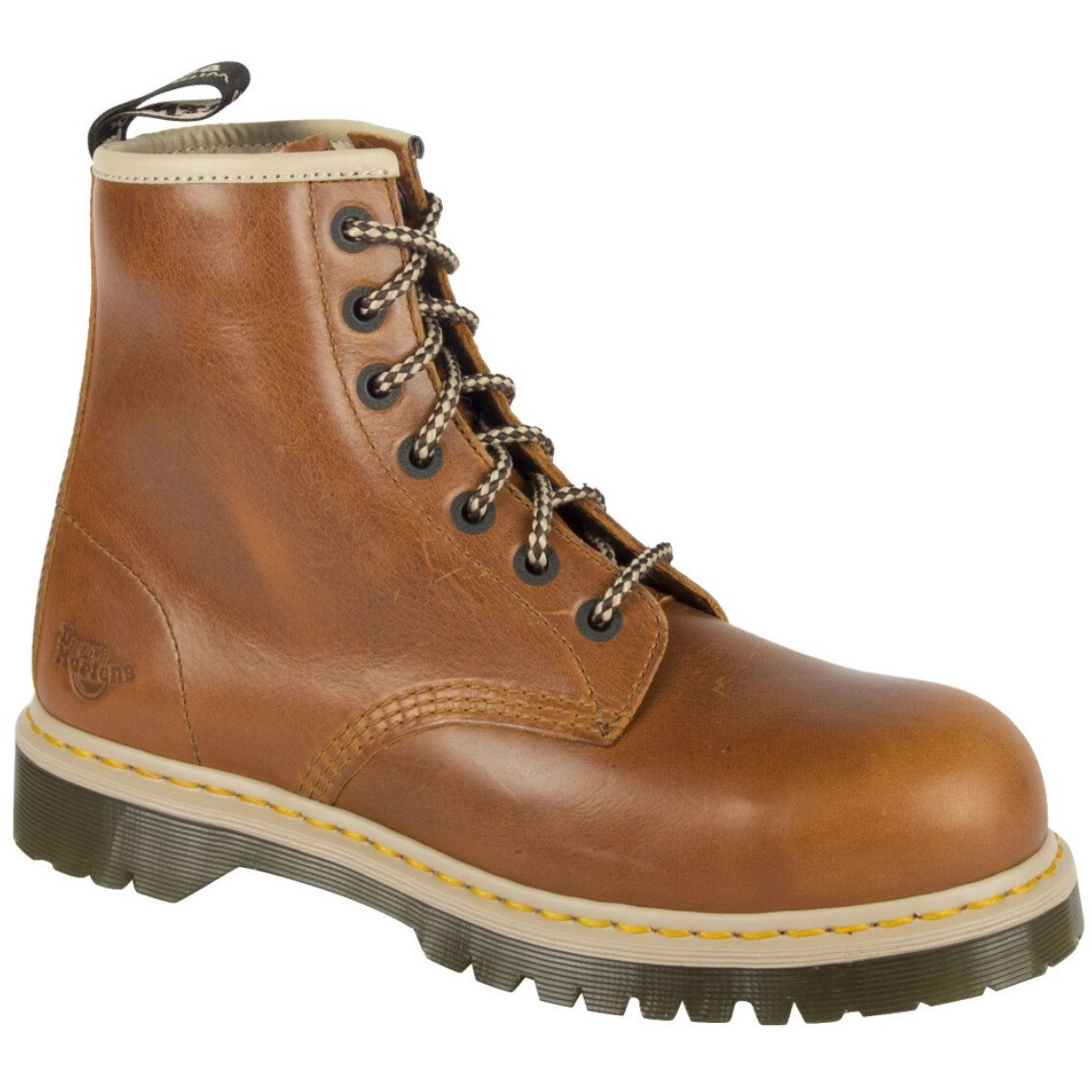 Dr. Martens 6604 (UK Size 3) Icon Leather Lace SB SRA Safety Boot 7B10 ST- UK3 - Tan