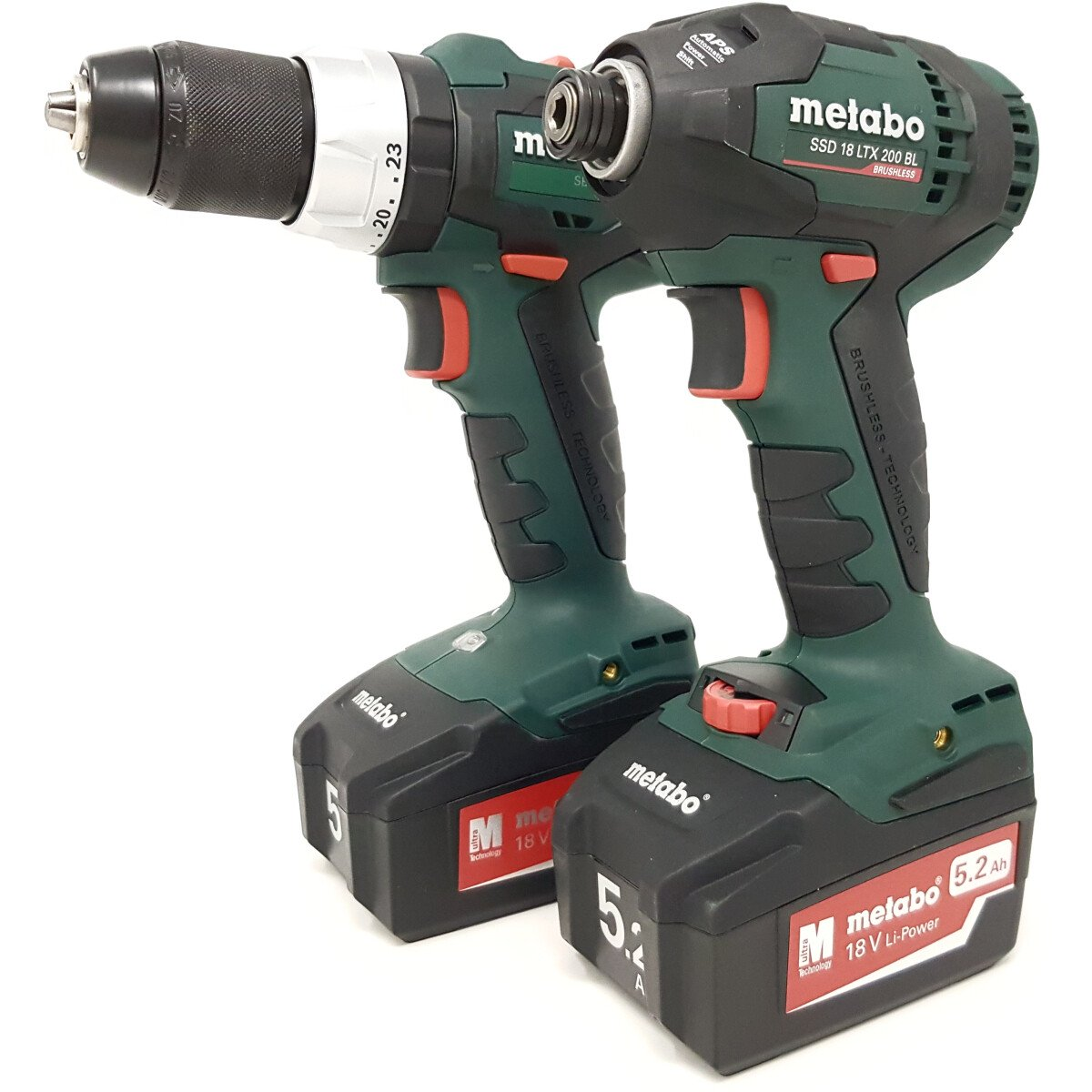 Metabo 18v Brushless Twin Kit Combi Drill + Impact Driver with 2 Batteries
